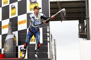 Camier celebrating his first podium of the season!